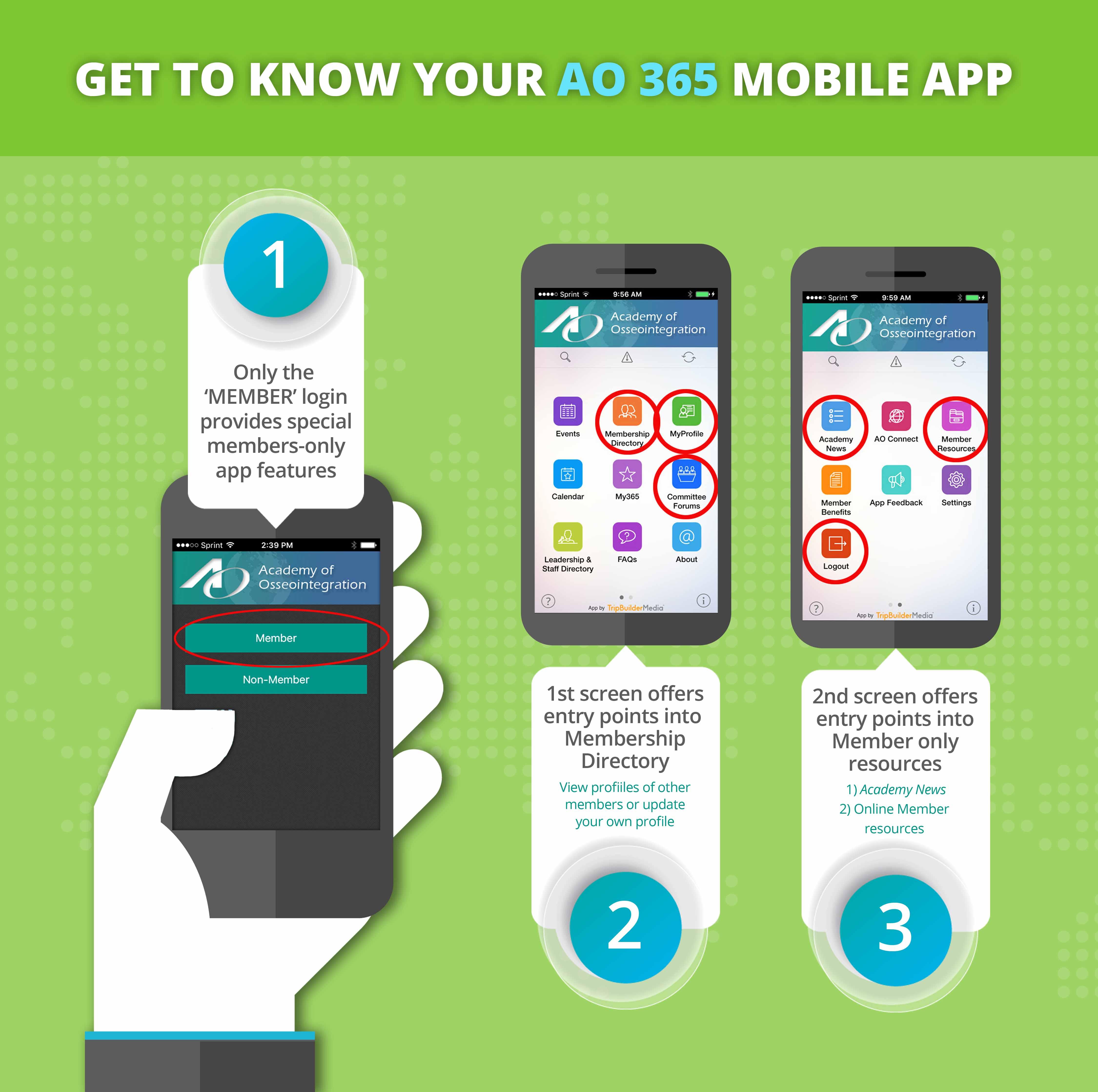 AO 365 Mobile App - Academy of Osseointegration